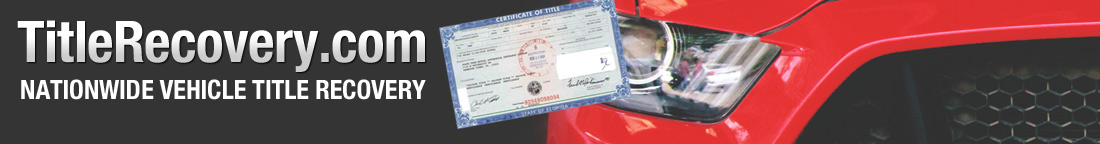 Nationwide Vehicle Title Recovery